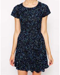 Dress Gallery - Ditsy Print Skater Dress - Lyst