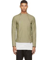 Thamanyah Army Asymmetrical Zip Jacket - Lyst
