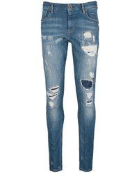 Scotch & Soda   'skim' Distressed Skinny Jeans   Lyst