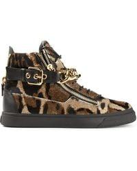 Giuseppe Zanotti Chain Strap Hi-Top Sneakers - Lyst