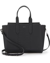 Halston Heritage Convertible Embossed Leather Tote - Lyst