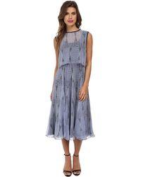 Shoshanna Blue Angelique Dress - Lyst