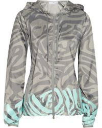 Adidas By Stella Mccartney Travel Pack Zebra-print Shell Jacket - Lyst