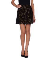 Victoria Beckham Mini Skirt - Lyst