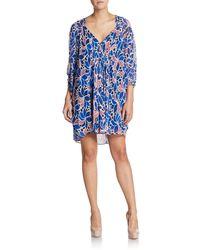 Diane von Furstenberg Fleurette Silk Chiffon Dress - Lyst