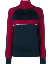 Chloé Knitted Silk Track Top - Red