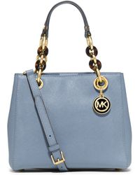 Michael Kors Cynthia Small Leather Satchel - Lyst
