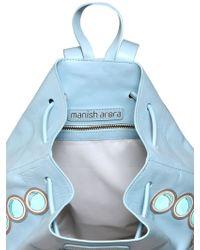 Manish Arora Faux Leather Appliqués Backpack - Blue