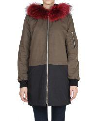 That's It - Cotton Parka with Marmot Fur - Lyst
