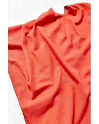 Urban Renewal Recycled Fuzzy Wrap - Orange