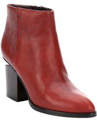 Alexander Wang Blood Orange Leather 'Gabi' Cut Out Heel Side Zip Ankle Booties - Lyst