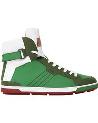 Bally Rubberized Leather High Top Sneakers - Lyst