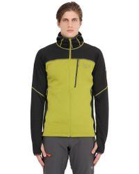 Mountain Hardwear Desna Grid Hooded Fleece Jacket - Green