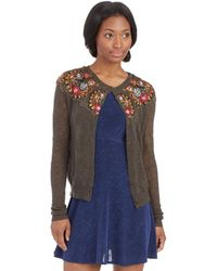 Free People Embroidered Lady Cardigan - Lyst