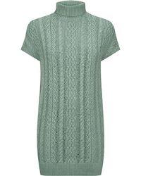 Ralph Lauren Blue Label Silk Linen Sweater Dress - Lyst