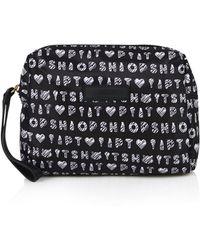 Topshop Zip Make Up Bag  Monochrome - Lyst