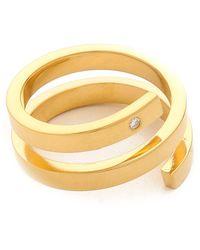 Jennifer Zeuner - Celine Ring Gold - Lyst