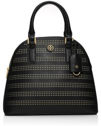 Tory Burch Robinson Perforated Dome Satchel - Lyst