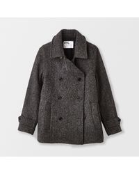 Margaret Howell Short Double Breasted Coat - Lyst