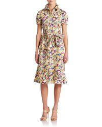 Carolina Herrera Parasol-Print Shirtdress - Lyst