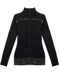 Adidas By Stella Mccartney Perforated Running Zip Up Top - Lyst