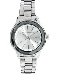 French Connection | Ladies Silver Round Face Bracelet Watch | Lyst