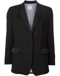 Band of Outsiders Embroidered Lapel Blazer - Lyst