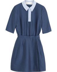 Victoria, Victoria Beckham Polo Collar Mini-Dress - Lyst