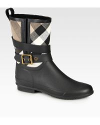 Burberry Holloway Canvas Rain Boots - Lyst