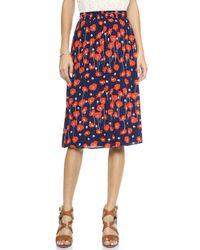 Ella Moss - Poppy Fields Skirt Ruby - Lyst