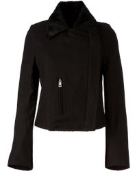 Ann Demeulemeester Zipped Jacket - Lyst