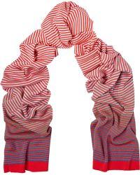 Missoni Striped Cotton-Blend Scarf - Lyst