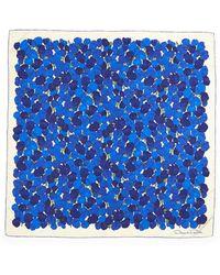 Oscar de la Renta Silk Tulip-Print Scarf - Lyst