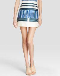 Tory Burch Mikado Stripe Skirt multicolor - Lyst