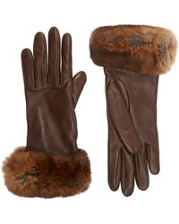 Barneys New York | Fur-cuff Gloves | Lyst