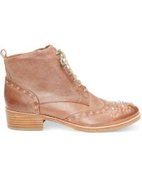 Donald J Pliner Donald J Pliner Womens Nickki Oxford Booties - Lyst