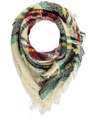 Forever 21 - Plaid Fringed Scarf - Lyst