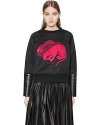 Vionnet Panther Neoprene Leather Sweatshirt - Lyst