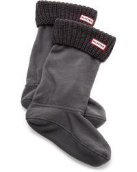Hunter Half Cardigan Boot Socks White - Lyst
