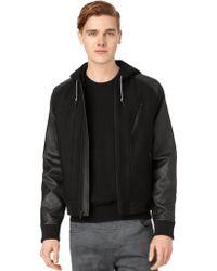Calvin Klein Jeans Wool Blend Baseball Bomber Jacket - Lyst