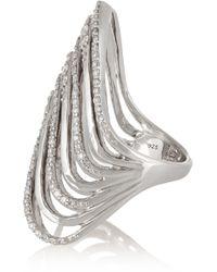 Lynn Ban - Crest Sterling Silver Diamond Ring - Lyst