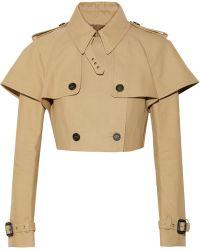 Burberry Prorsum Cropped Cottongabardine Jacket - Lyst