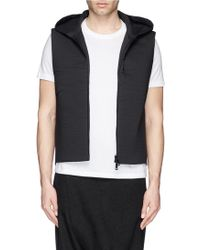 Song For The Mute Cotton-Nylon Bonded Jersey Hood Vest - Lyst