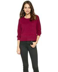J Brand Dauphine Cashmere Sweater  Sangria - Lyst