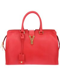 Saint Laurent Cabas Chyc Tote - Red