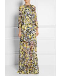 Erdem Lamara Floral-print Silk-chiffon Gown - Lyst