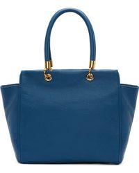 Marc By Marc Jacobs Blue Leather Bentley Shoulder Bag - Lyst