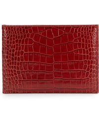 Graphic Image - Croc-Embossed Leather Horizontal Photo Bi-Fold - Lyst