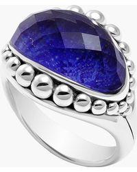 Lagos 'Maya' Stone Ring blue - Lyst