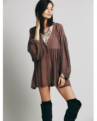 Free People Dancing On Clouds Tunic - Lyst